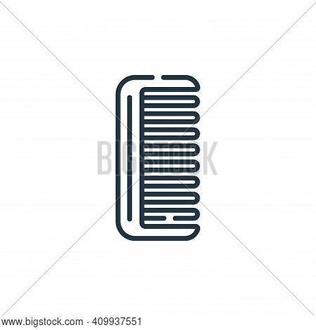 comb icon isolated on white background from bathroom collection. comb icon thin line outline linear