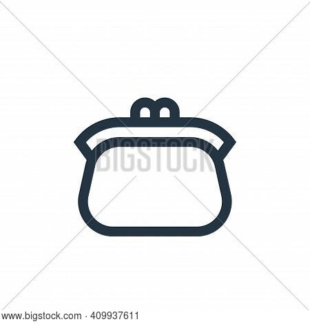 coin purse icon isolated on white background from insurance collection. coin purse icon thin line ou