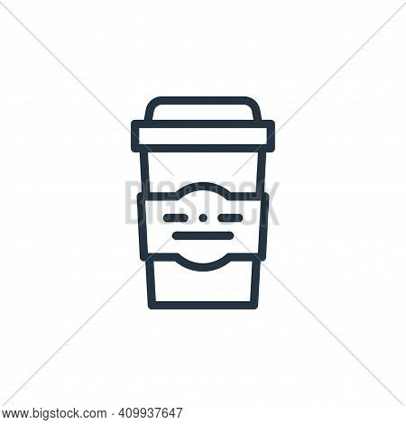 coffee cup icon isolated on white background from plastic products collection. coffee cup icon thin