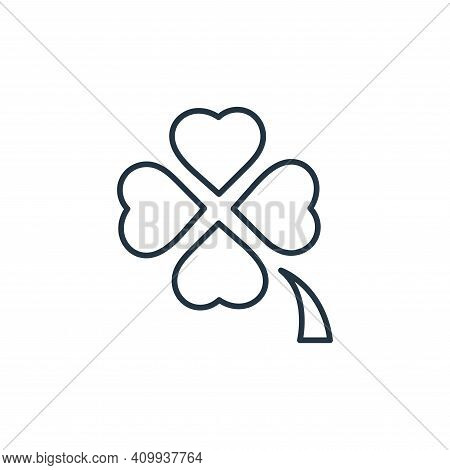 clover icon isolated on white background from casino collection. clover icon thin line outline linea