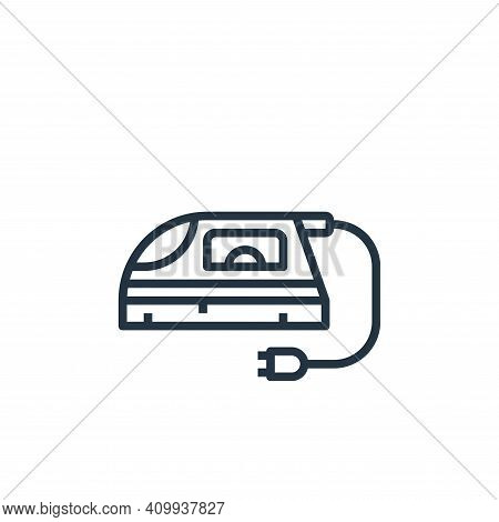 clothing iron icon isolated on white background from laundry collection. clothing iron icon thin lin