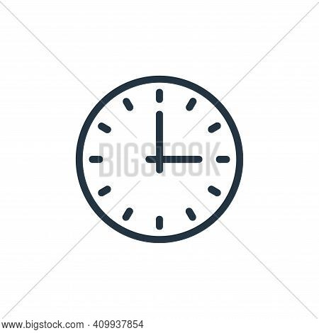 clock icon isolated on white background from banking and finance flat icons collection. clock icon t