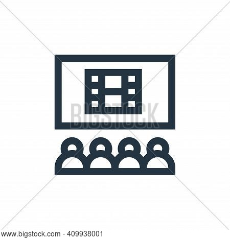 cinema icon isolated on white background from hobbies collection. cinema icon thin line outline line