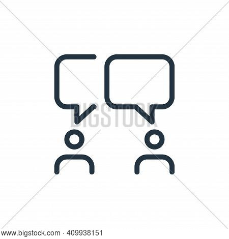 chatting icon isolated on white background from work office and meeting collection. chatting icon th