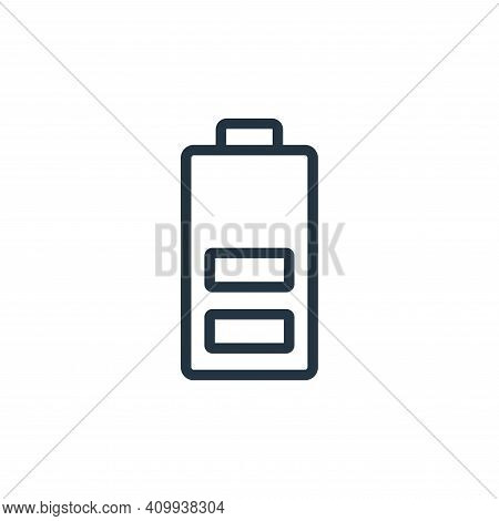 charged icon isolated on white background from photography collection. charged icon thin line outlin