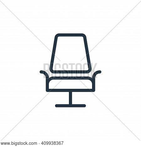 chair icon isolated on white background from work office supply collection. chair icon thin line out
