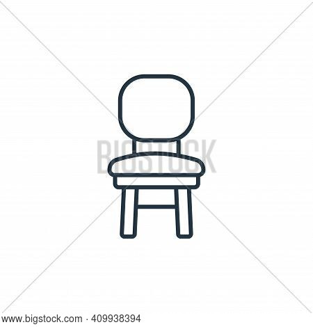 chair icon isolated on white background from interiors collection. chair icon thin line outline line