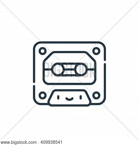 cassette icon isolated on white background from reggae collection. cassette icon thin line outline l