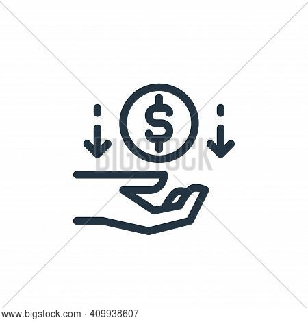 cashback icon isolated on white background from ecommerce collection. cashback icon thin line outlin