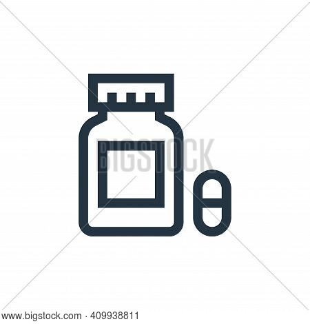 capsules icon isolated on white background from pharmacy collection. capsules icon thin line outline