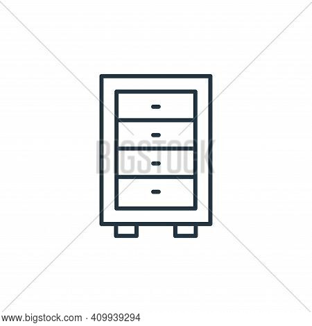 cabinet icon isolated on white background from interiors collection. cabinet icon thin line outline