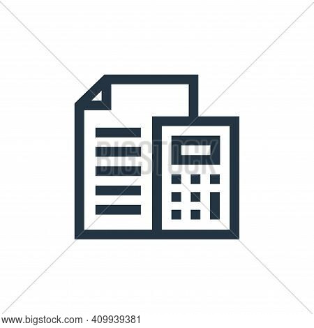 budget icon isolated on white background from marketing and growth collection. budget icon thin line