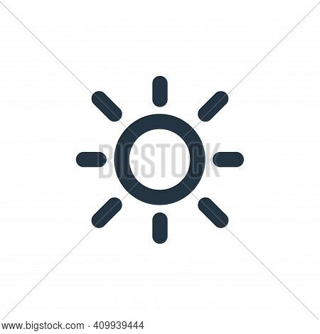 brightness icon isolated on white background from user interface collection. brightness icon thin li