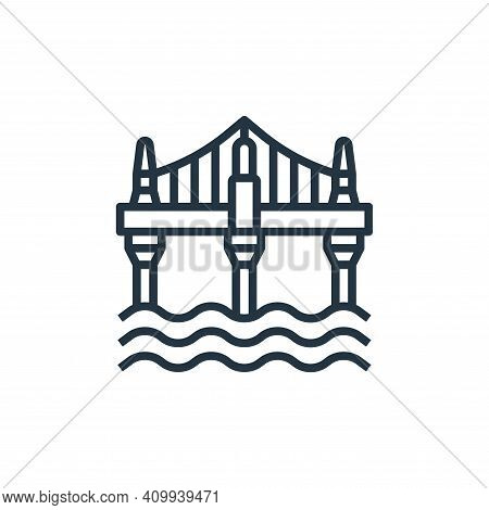 bridge icon isolated on white background from motorway collection. bridge icon thin line outline lin