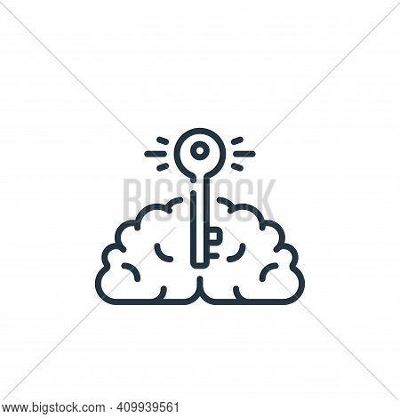 brain icon isolated on white background from life skills collection. brain icon thin line outline li