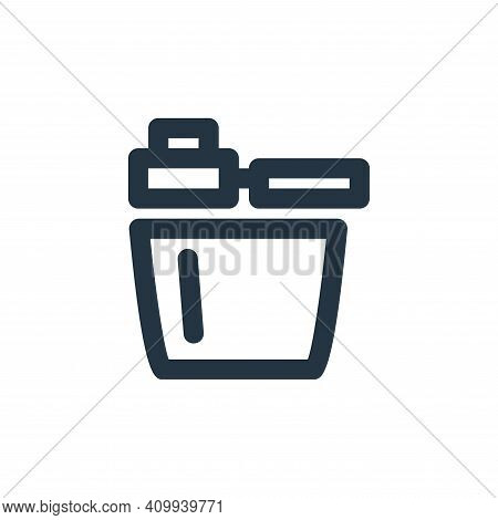 box icon isolated on white background from coffee collection. box icon thin line outline linear box