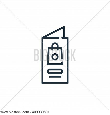 booklet icon isolated on white background from mall collection. booklet icon thin line outline linea