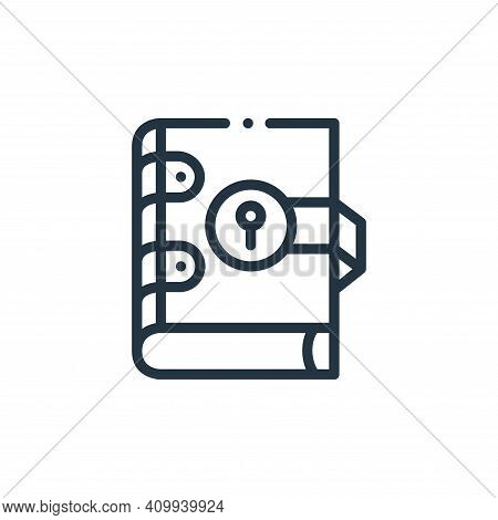 book icon isolated on white background from videogame elements collection. book icon thin line outli