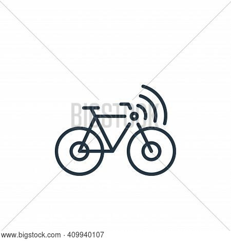 bicycle icon isolated on white background from internet of things collection. bicycle icon thin line