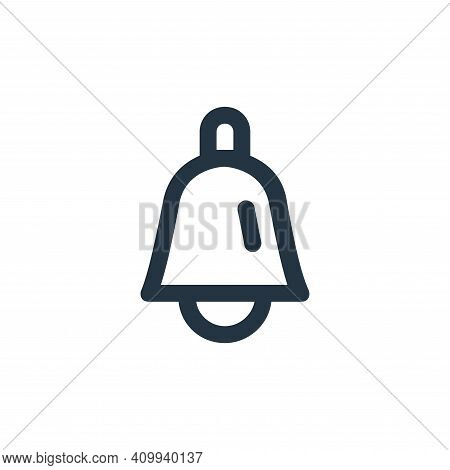 bell icon isolated on white background from user interface collection. bell icon thin line outline l