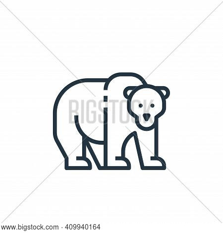 bear icon isolated on white background from camping collection. bear icon thin line outline linear b