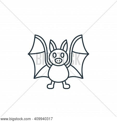 bat icon isolated on white background from coronavirus covid collection. bat icon thin line outline