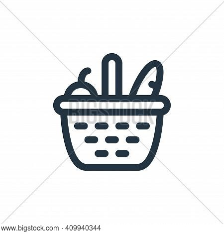 basket icon isolated on white background from labour day collection. basket icon thin line outline l