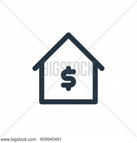 bank icon isolated on white background from marketing business collection. bank icon thin line outli