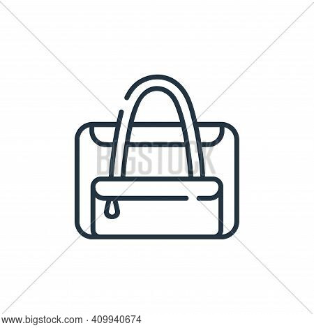 baby bag icon isolated on white background from maternity collection. baby bag icon thin line outlin