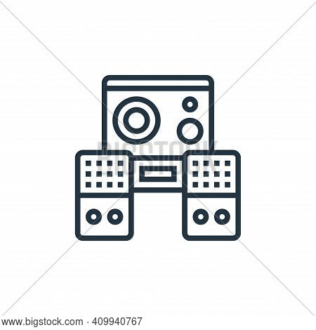 audio speaker icon isolated on white background from cinema collection. audio speaker icon thin line