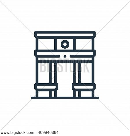 arc de triomphe icon isolated on white background from europe collection. arc de triomphe icon thin