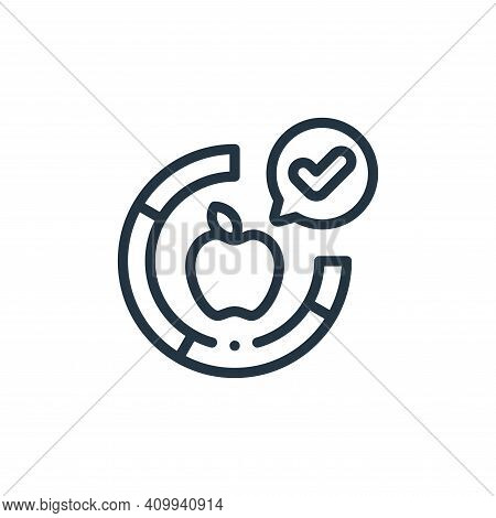 apple icon isolated on white background from smart farm collection. apple icon thin line outline lin