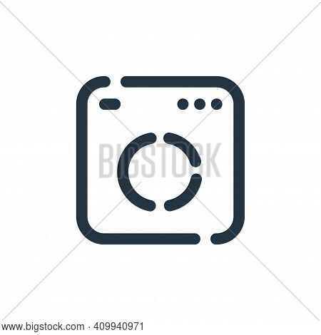 analytics icon isolated on white background from seo collection. analytics icon thin line outline li