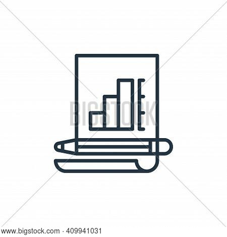analysis icon isolated on white background from management collection. analysis icon thin line outli