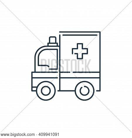 ambulance icon isolated on white background from virus transmission collection. ambulance icon thin