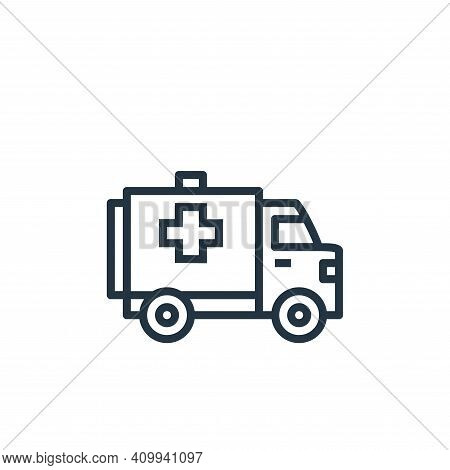 ambulance icon isolated on white background from hospital collection. ambulance icon thin line outli