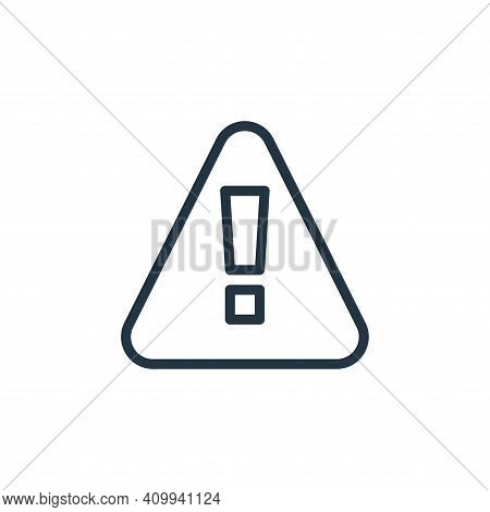 alert icon isolated on white background from miscellaneous collection. alert icon thin line outline