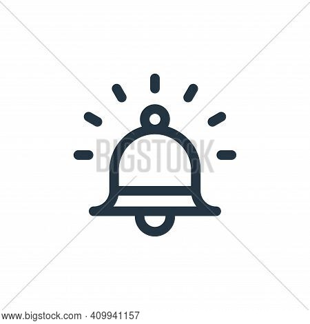 alarm icon isolated on white background from emergencies collection. alarm icon thin line outline li