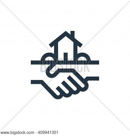 agreement icon isolated on white background from real estate collection. agreement icon thin line ou