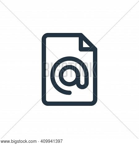address icon isolated on white background from document and files collection. address icon thin line
