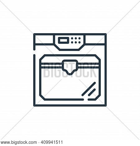 d printer icon isolated on white background from industrial process collection. d printer icon thin