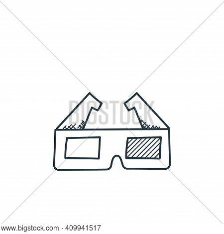 d glasses icon isolated on white background from technology collection. d glasses icon thin line out