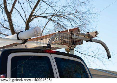 Van Roof Ladder Service Arm Tool White