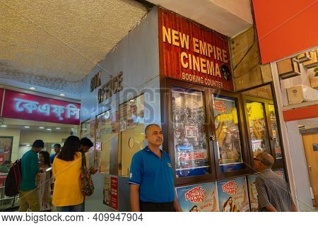 Kolkata, West Bengal, India - 10th September 2019 : Movie Goers Inside New Empire Cinema Hall, One O