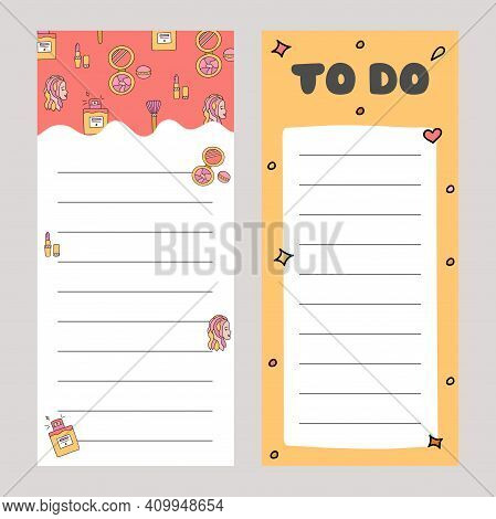 Cute Scrapbook Templates For Planner With Illustrations