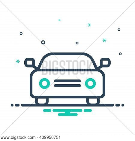 Mix Icon For Car Auto Passenger Automobile Conveyance Carriage Automotive Transport Travel