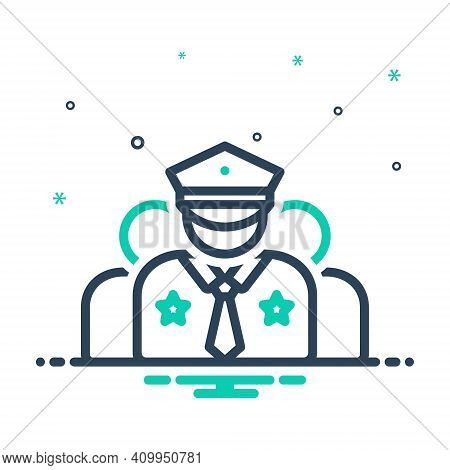 Mix Icon For Crew Corps Team Gang Crew-member Captain Commander Police Man Policeman