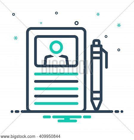 Mix Icon For Curriculum Description Resume Profile Application Recruitment Document Program Schedule