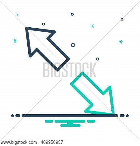Mix Icon For Extend Arrow Opposite Prolong Expand Enlarge Distend Develop Widen Broaden Amplify Spre