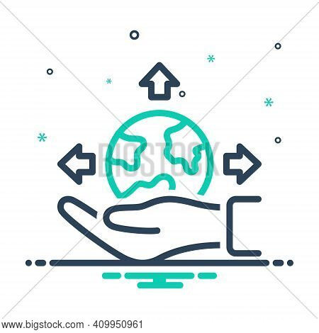 Mix Icon For Possible Presumable Potential Triable Thinkable Feasible Available Imaginable Palm Eart